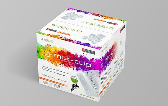 Neues Package Design für g-mix-cup Produktverpackung