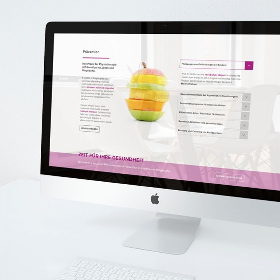 Corporate Design, Responsive Webdesign und Online Marketing für Praxis