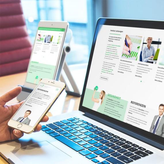 Corporate Design, Responsive Webdesign und Online Marketing – Institut für Gesundheit & Prävention Lübeck