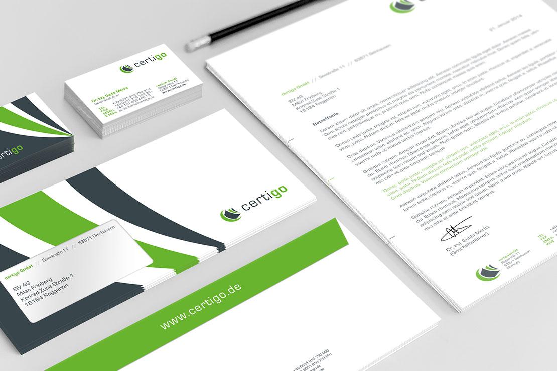 Gestaltung Corporate Design Logodesign certigo GmbH