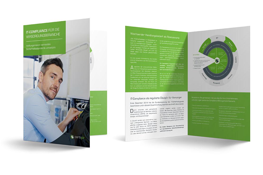 Gestaltung Printprodukte Printdesign Faltblatt