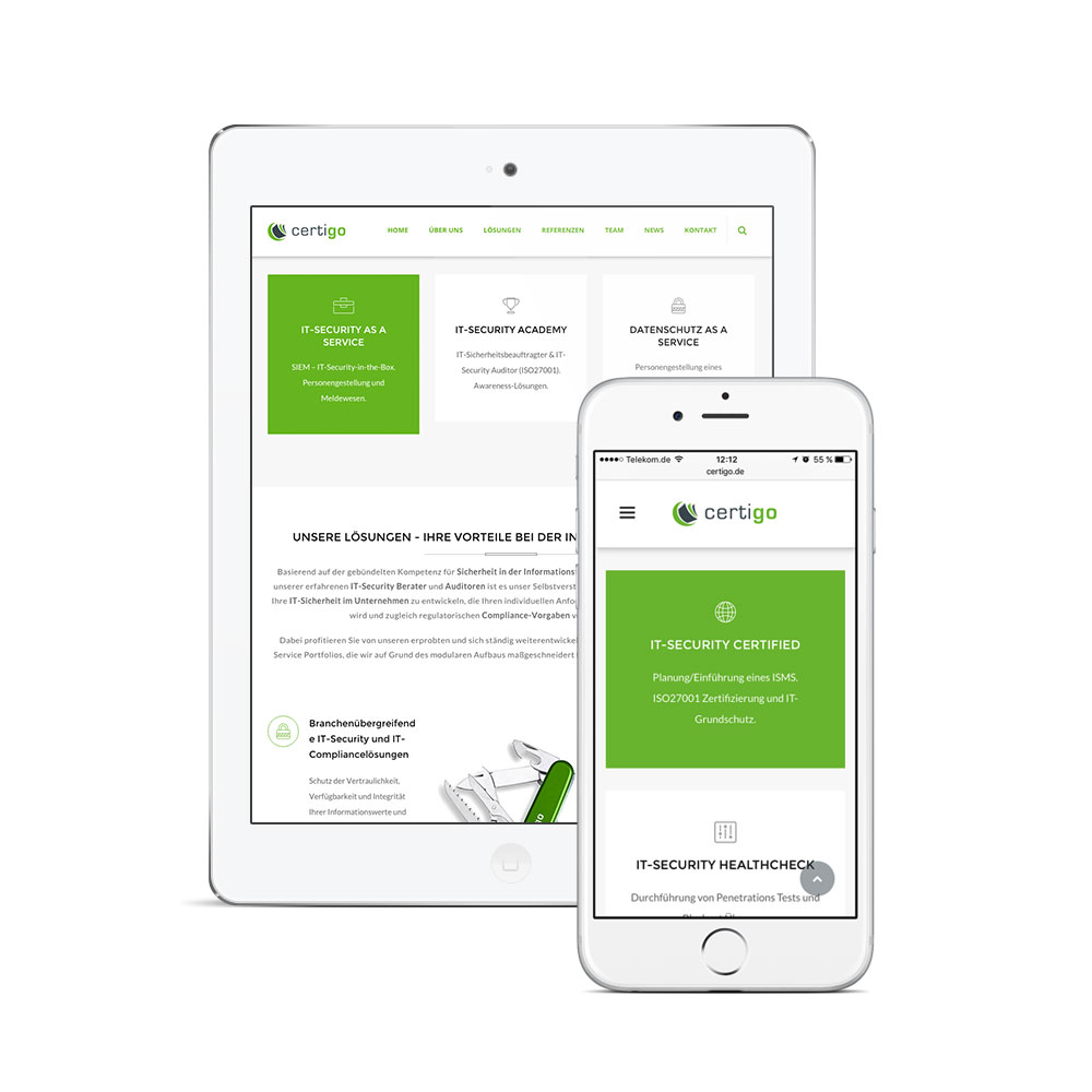 Responsive Webdesign Website Erstellung Wordpress CMS