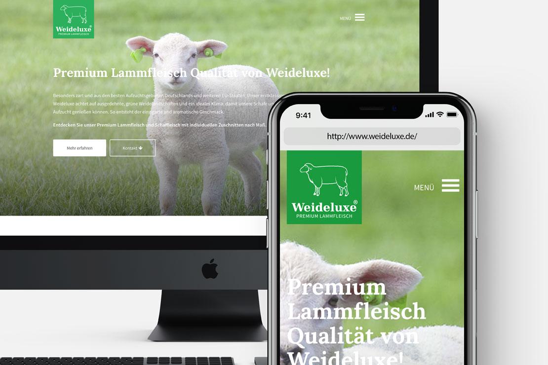 Responsive Webdesign Weideluxe