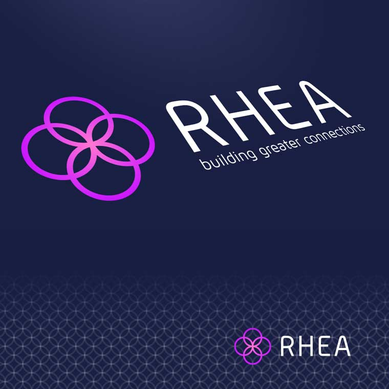 Corporate Design, Webdesign & User Interface für RHEA – Building greater connections!