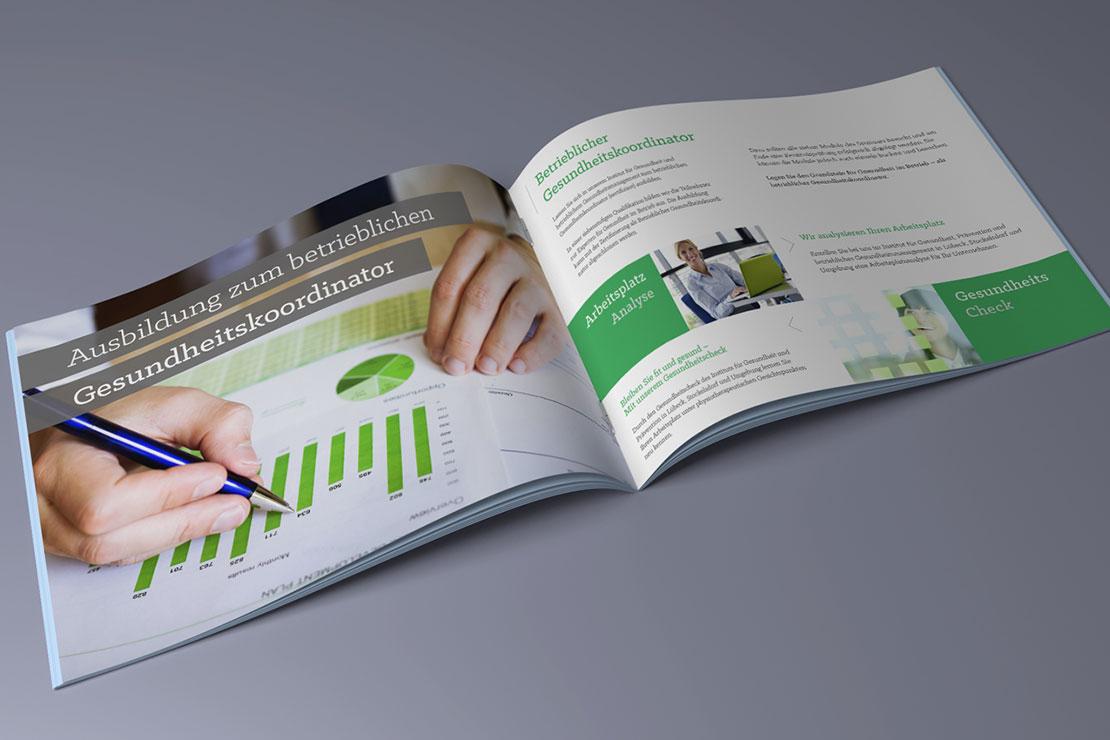 Referenz MN Institut Printdesign Firmenbroschüre
