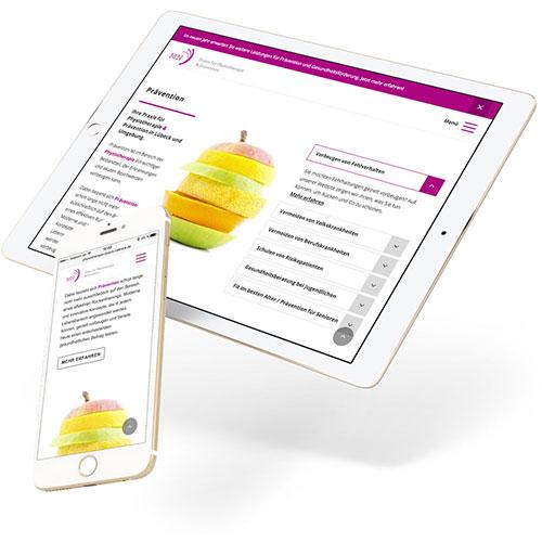 Referenz MN Praxis Website Responsive Webdesign Contao CMS