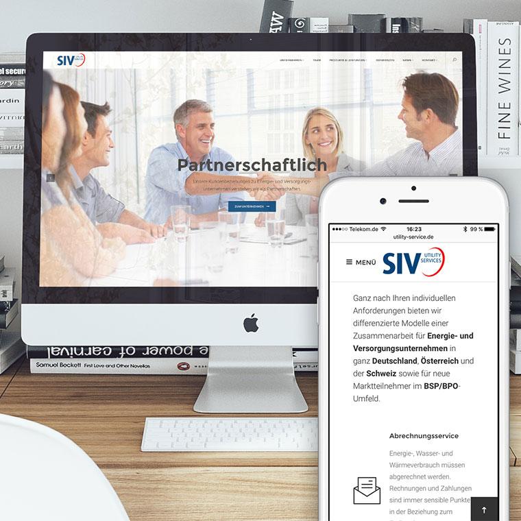 Responsive Webdesign mit WordPress CMS für SIV Utility Services GmbH