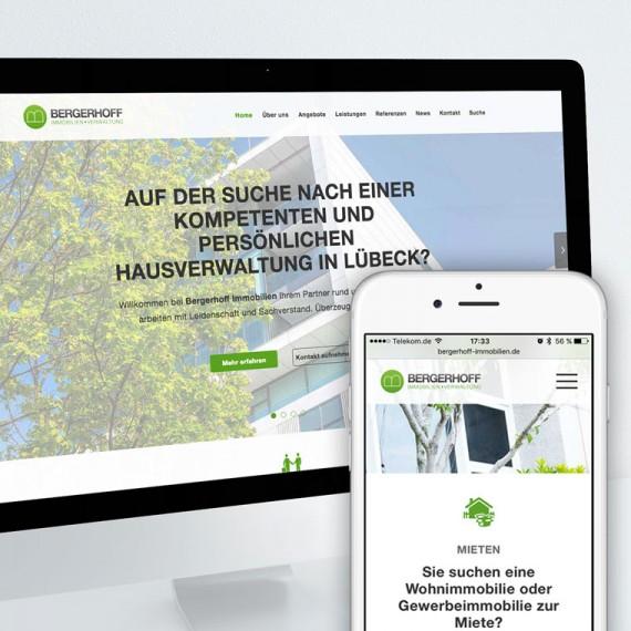 Responsive Webdesign mit dem Contao CMS für Bergerhoff Immobilien GmbH