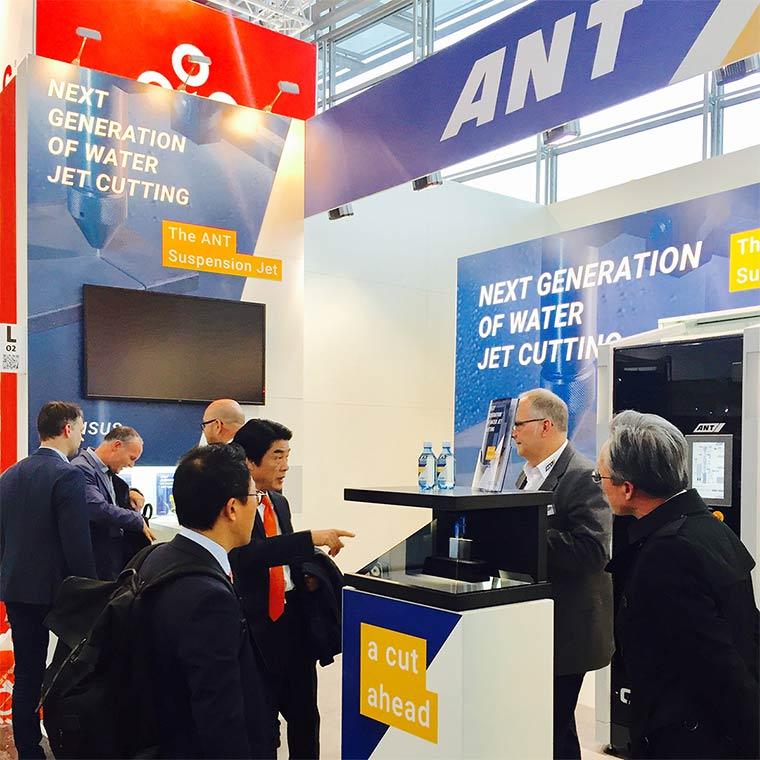 Erste Ergebnisse unserer Markenentwicklung für die ANT AG auf der Euroblech