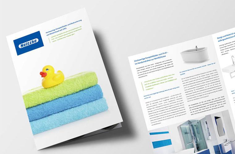 Neues Corporate Design, Printdesign und Landinpage für die Neitzke Sanitärtechnik GmbH