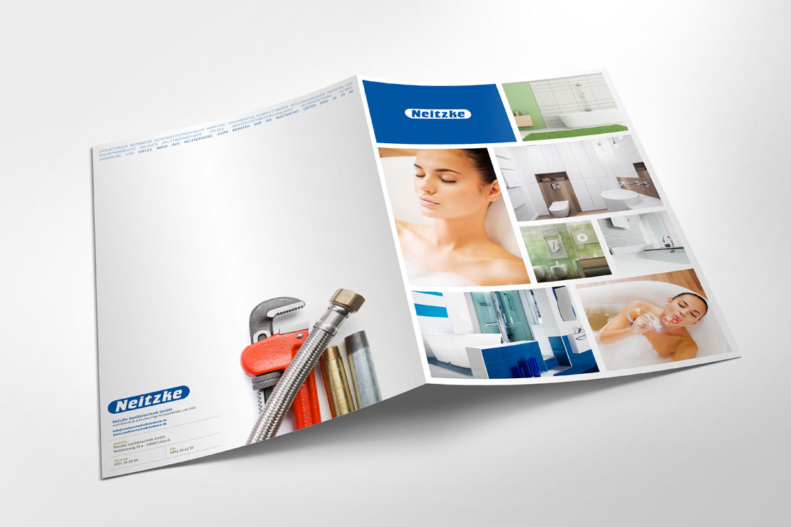 Corporate Design Printdesign für Neitzke Sanitärtechnik GmbH