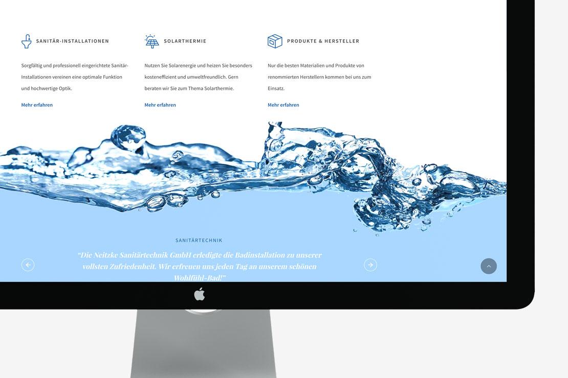 Responsive Webdesign Corporate Design für Neitzke Sanitärtechnik GmbH