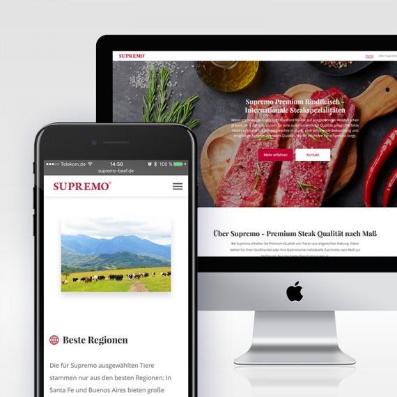 Neue responsive Website für Supremo – Argentinische Steakspezialitäten nach Maß!
