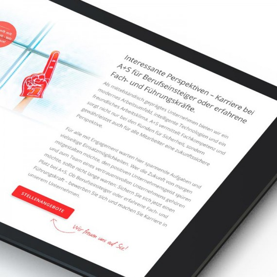 Responsive Webdesign für die Alarm- und Sicherheitstechnik B.W. GmbH