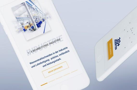 Bilinguale Website mit Responsive Webdesign für die ANT AG. Next generation of water jet cutting!