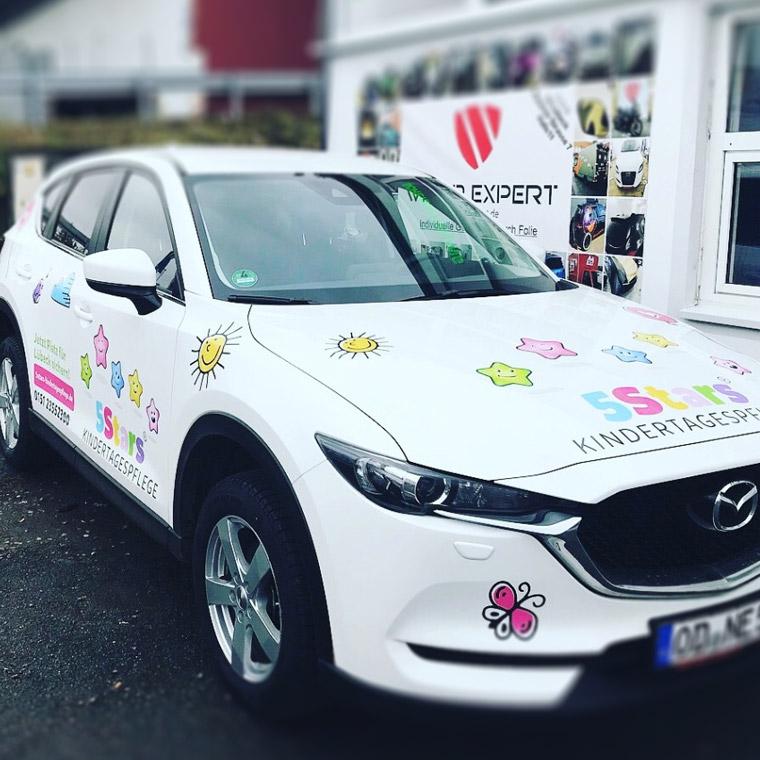 Werbung die ankommt! Autowerbung für die 5Stars Kindertagespflege in Lübeck