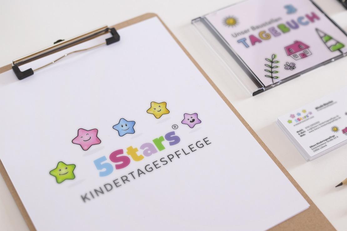 Markenentwicklung und Corporate Design für 5Stars Kindertagespflege