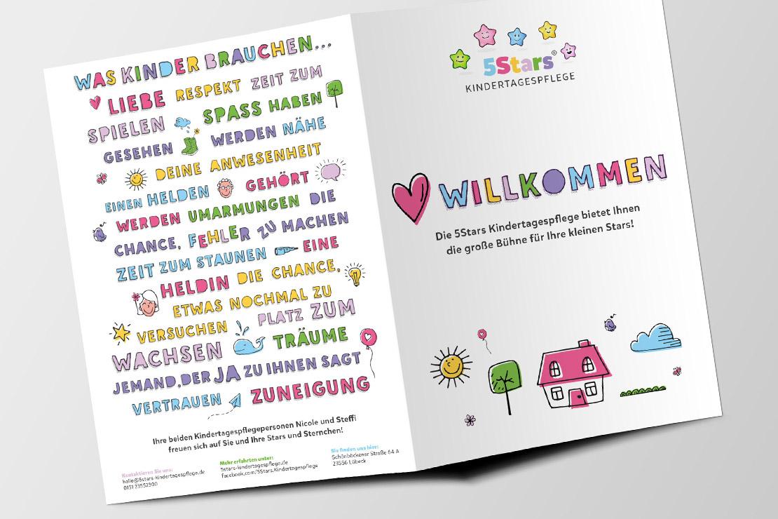 Printdesign für 5Stars Kindertagespflege