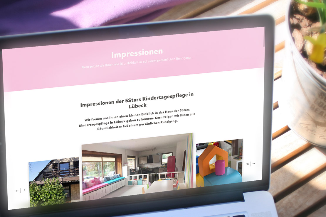 Responsive Webdesign für 5Stars Kindertagespflege