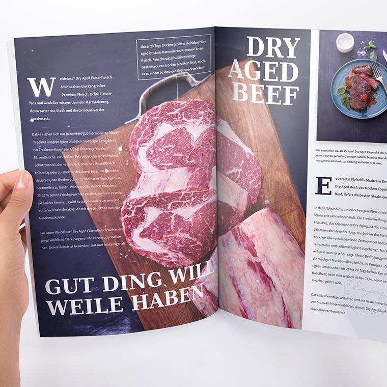 Produktbroschüre für Weideluxe® – Premium Rind- und Färsenfleisch Qualität
