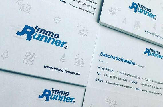 Markenentwicklung, Logodesign und Corporate Design für Immo Runner