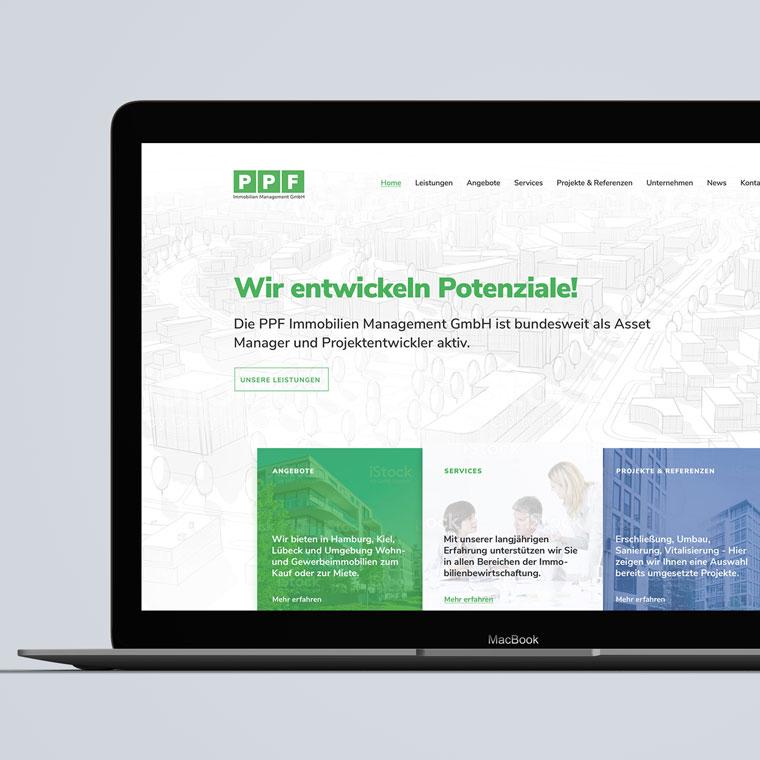 Kleiner Einklick in die Markenentwicklung und das Responsive Webdesign für die PPF Immo