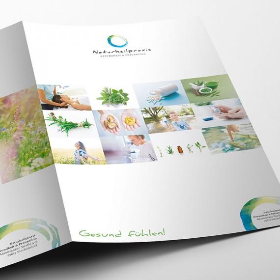 Markenentwicklung und Corporate Design der Naturheilpraxis für Gesundheit und Prävention