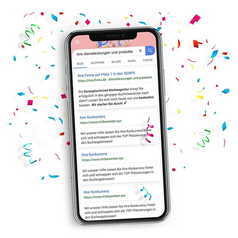 Werbeagentur für Suchmaschinenoptimierung (SEO) OnPage & OffPage
