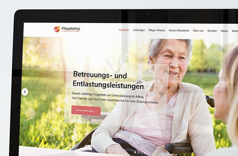 Websiteentwicklung mit Responsive Webdesign und dem WordPress CMS für Pflegeliebling
