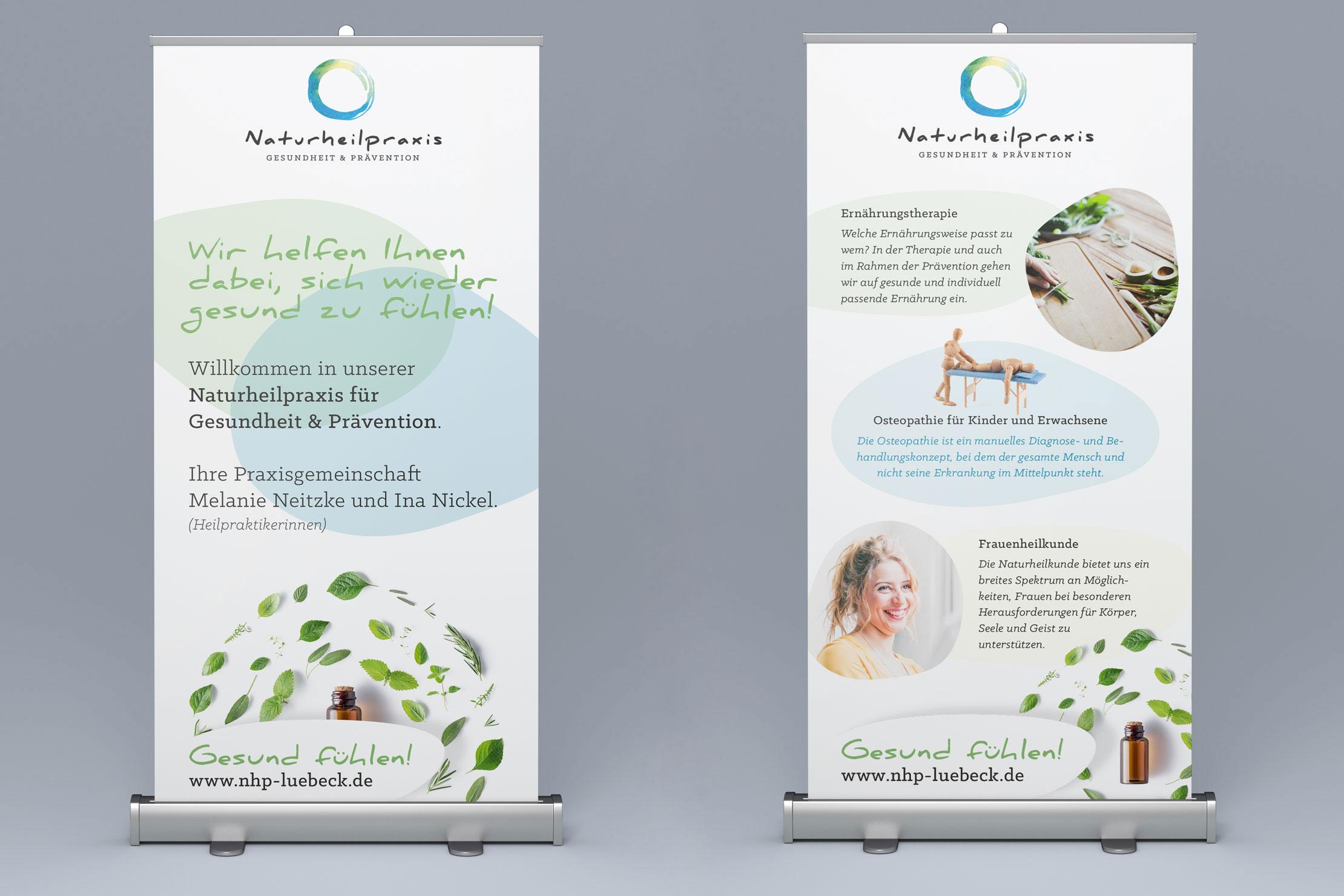 Printdesign Naturheilpraxis für Naturheilkunde und Osteopathie
