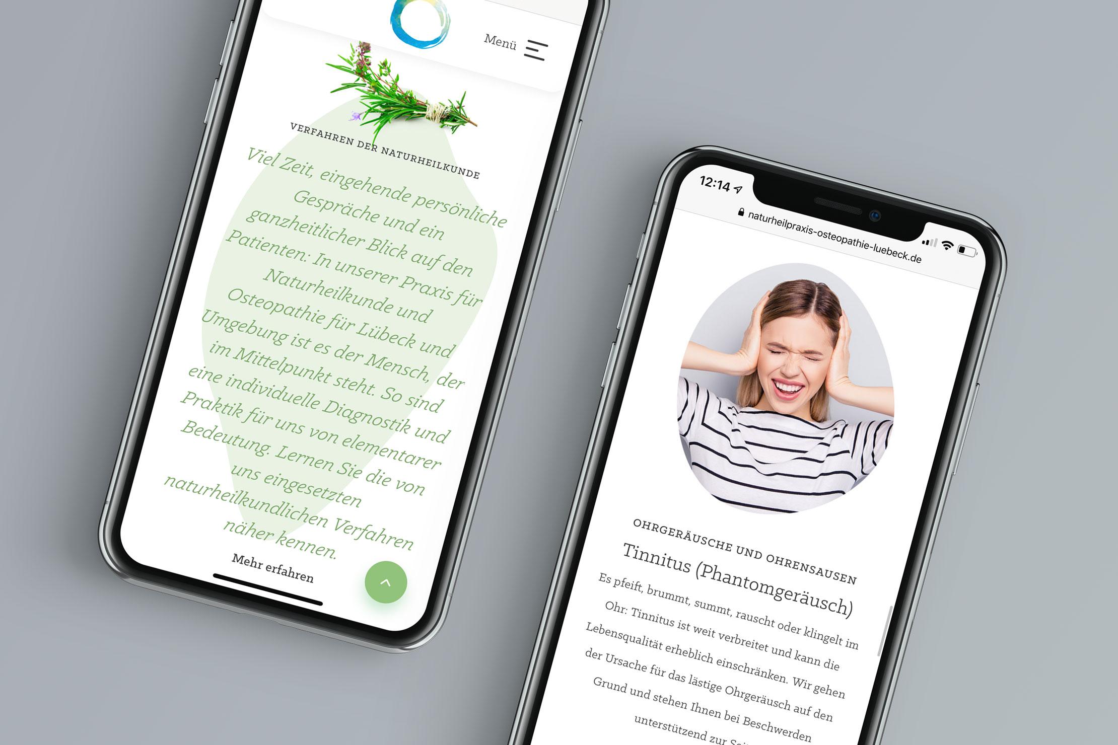 Responsive Webdesign Contao CMS Naturheilpraxis für Naturheilkunde und Osteopathie